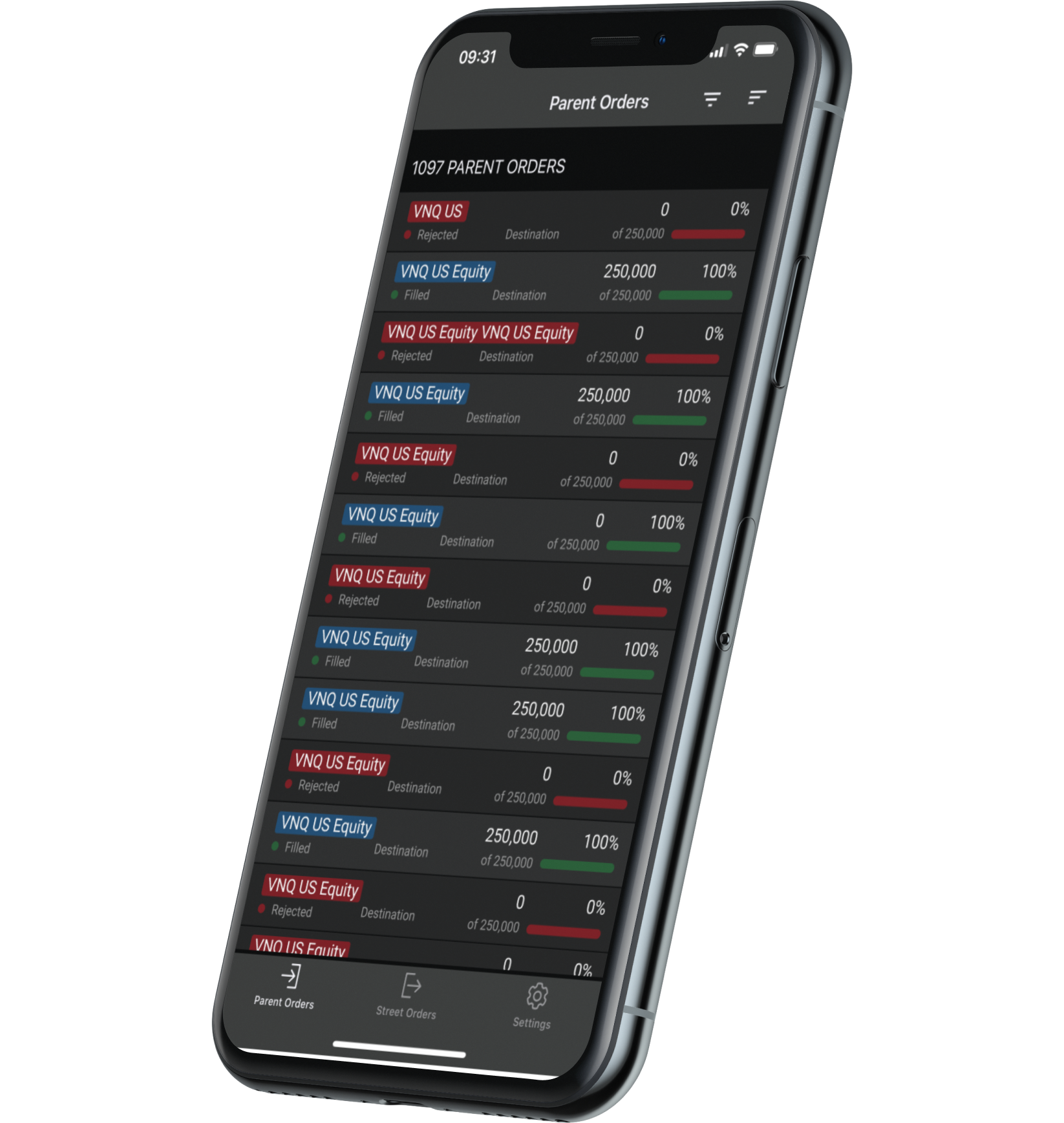 FlexNOW Mobile application user interface